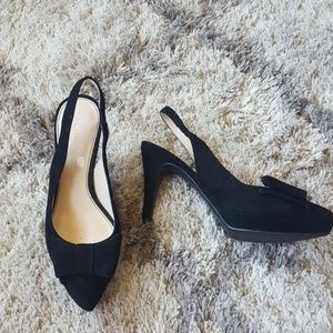 Marc Fisher Fret Bow Slingback Pumps